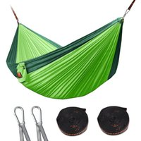 Wholesale Outdoor Double Camping Hammock Nylon Parachute Hammock Ultralight Portable Garden Hammock With Straps for Backpacking Travel Beach Yard