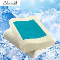 Wholesale Pillow For Massage - Wholesale- 1pc Slow recovery latex particle Gel Memory foam pillow heath care neck pillow massage pillow for children adults