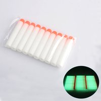 Wholesale Eva Long - 100 Pcs Multi COlors Fluorescence Dart Refills Round Head Foam Bullets With Hole for Nerf N-strike Elite Series Blasters Toy Gun
