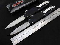Wholesale Damascus Hunting - 2 styles Microtech Combat troodon A07 Drop point Dagger Damascus blade Fine edge pocket knives Nylon sheath