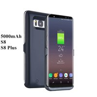 Wholesale Portable Chargers Case Galaxy - Battery Charger Case For Samsung Galaxy S8 S8+ 5000mAh Backup External Battery Power Bank For Samsung S8 Portable Powerbank Case