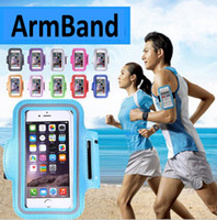 Wholesale Neoprene Running Armband - For Iphone 6s 7 plus Waterproof Sports Running Case Reflective Armband bag Work out Holder Pounch Cell Mobile Phone Arm Band Anti-sweat