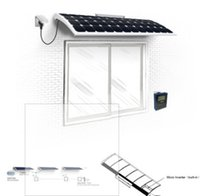 Wholesale solar window micro inverter smart power Military grade quality Flexible mono solar panel weight of normal solar home system on off grid