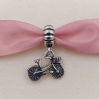 Wholesale Cube Bicycle - Authentic 925 Sterling Silver Beads Bicycle Pendant Charm Fits European Pandora Style Jewelry Bracelets & Necklace 791266 bike sports gift