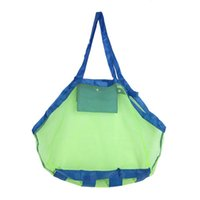 Clothing square mesh basket - Creative Folding Baby Child Beach Mesh Bag Child Bath Toy Storage Bag Net Suction Cup Baskets for Outdoor Hanging Big Volume