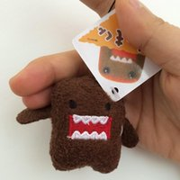 Wholesale Mini Domo Plush - 50Pcs set DOMO KUN Plush toys 5cm mini Phone Charm Bags Keychains Pendant Domokun Lanyard doll kawaii Domo-kun toys Wholesale