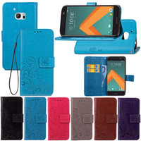 Wholesale scrub phone covers - Scrub PU Leather Wallet Flip Case For HTC M10 Case Shockproof Cover HTC 10 Matte Spin Card Phone Case