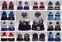 Wholesale L Beanie - Baseball Beanies 2016 New Arrival High Quality Chicago Cubs Toronto Blue Jays New York Yankees Mixed Sale