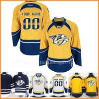 ... Mens Custom Nashville Predators Ice Hockey Jerseys Embroidery And  Stitched EDGE Authentic Home 76 P.K. PK ... dc7c056b3