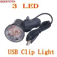 Wholesale Led Light Fr - Wholesale- Hot 3 LED Super Bright Port Clip On Spot USB Light Lamp Fr Laptop PC Notebook #H29#