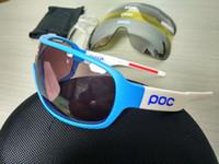 Wholesale Mountian Bikes - 2017 POCs sunglasses 4 lens polarized Cycing Eyewear Men Women Goggles Gafas cicismo Sport Bicycle Mountian do blade MTB Sport bike glasses.
