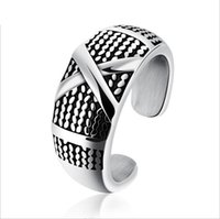 Wholesale Jewelry Designs Gothic - Fashion Day Jewelry Mens Punk Finger Rings Rock Gothic Style Rings X Design Silver Stainless Steel Rings for Mens