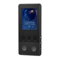 tarjetas de video de música al por mayor-A5 Plus 8GB Reproductor digital HiFi Metal Música Reproductor de MP3 Audio Video Radio FM Grabación de voz Tarjeta TF 1.8 Pantalla