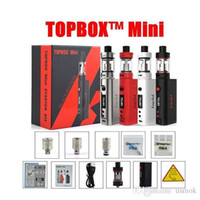 Wholesale Electronic Ecigarette Kit - 1pc Kanger Topbox Mini Starter Kit 75W TC ecigarette 4ml tank vaporizer electronic cigarettes with kbox box mod 510 thread atomizer vs subox