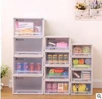 Wholesale Cabinet Desk Organizers - Plastic Home Furnishing drawer type storage locker combination wardrobe cabinet desk box new storage box,transparent