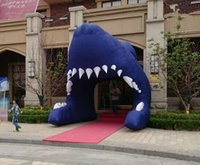 Wholesale Inflatable Tunnels - Free Shipping Deep Sea Inflatable Archway Shark Tunnel for Event