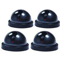luz de flash para cámara al por mayor-4 cámaras falsa cámara de vigilancia simulada domo vigilancia CCTV w / Record Flash Light