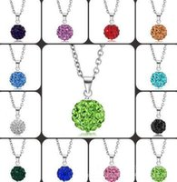 Wholesale Cheap Wholesale Animal Charms - Choker Diamond Chains Necklace Imitation Diamond Ladies Silver Necklaces Wholesale Jewelry Cheap Charms Ball Crystal Diamond Chain Necklaces