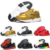 Wholesale Baby Train Shoes - 13 Colors Air Huarache V1 Running Shoes Children Athletic Shoes Kids Huaraches Sports Shoes Baby Boys Girls Training Sneaker Black White Red