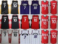 Wholesale Vintage Chinese Embroidery - Hot Sale Men 10 DeMar DeRozan Jersey Throwback Basketball 7 Kyle Lowry Jerseys Vintage Purple Red White Black Chinese Embroidery Quality