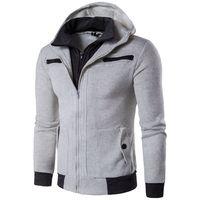 Wholesale Zipper Turtleneck Sweatshirt - 2018 Winter Fashion Warm Hooded Hoodies Men's Casual Sweatshirt Jacket Coat Outwear