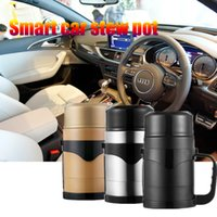 Wholesale Electric Travel Kettle - 2017 New arrival 1200ML 12v Car kettle Car Stainless Steel 304 Travel Holder Mug Electric Thermos para Coffee&Tea&Mat&Soup Cup Auto Adapter