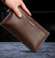 Wholesale Business Card Holder Large Capacity - 2017 Brand Zipper Men Wallets with Phone Bag PU Leather Clutch Wallet Large Capacity Casual Long Business Men's Wallets