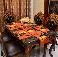 Night Witch Table Runners Nappe d'Halloween Placemat Dinner Mat Maison Haunted Décorations Halloween pour décoration à la maison