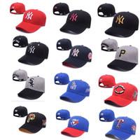 Wholesale Ny Style Caps - Hot more style Hat NY snapbacks caps Solid Hats hip pop sport caps Baseball Caps Football Cap Adjustable basketball baseball cap Fashion