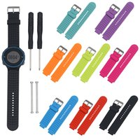 Wholesale Forerunner Garmin - Wholesale-Adjusted Watches Accessories Soft Silicone Strap Replacement Watch Band Lugs Adapters For Garmin Forerunner 230 235 220 Watch
