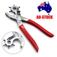 ingrosso punzone a cinghia-2- 4.5mm Girevole Cintura in pelle Occhiello Punch Punch Pinza Craft Strumento NUOVO A