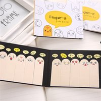 200 Pages Kawaii Unique Scrapbooking Dix Fingers Sticker Bookmark Tab Flags Mémo Book Marker Sticky Notes Office Stationery.30pcs \