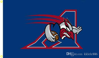 Wholesale Canadian Flags - Montreal Alouettes Flag 90 x 150 cm Polyester CFL Canadian Football League Fans Banner