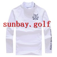 COTONE DI GAMES DI GIAPPONESE COLLO ROSSO Anti-sudore BEST GOLF CLUBS LONG T-shirt maniche superiori Per PG 89 Pearly Gates