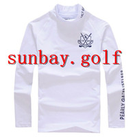 JAPAN'S Golf T-Shirts Baumwolle ROUND NECK Anti-Sweat BEST GOLF CLUBS LONG Hülse T-Shirts Tops Für PG 89 Pearly Gates