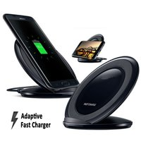 Wholesale Note Station - High Quality Qi Wireless Charger Fast Charging Station PAD For Samsung S8 S6 S7+ Plus Note 5 With Retail Package