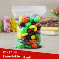 Wholesale Clear Plastic Bags Jewellery - 100pcs Resealable Strong Zip Lock Bags Jewellery 12x17cm 8mil Thicker Clear Plastic Poly Grip Self Seal Bags