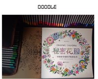 Wholesale Colouring Book Wholesalers - Adult Coloring Books 4 Designs Secret Garden  Animal Kingdom  Fantasy Dream  Enchanted Forest 24 Pages Kids Adult Painting Colouring Books