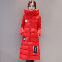 Wholesale Korean Down Coat Women - 2017 new winter coat thick jacket padded down Korean cultivating students code girls long coat