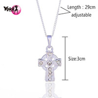 Wholesale Irish Style - Yokii New arrival Irish Style Rhinestone Pendant Necklace Women Jewelry Random delivery Link Chain