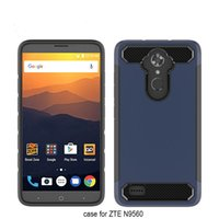Wholesale Grass Blade - For ZTE Blade ZMax Pro 2 Samsung S8 Active TPU+PC 2 In 1 Carbon Fibre wire drawing Anti-Fall back cover case