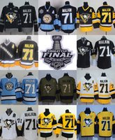 Wholesale Ice Hockey Outlet - 2017 Stanley Cup Final Champion Patch Factory Outlet Mens Pittsburgh Penguins 71 Evgeni Malkin Home Away Alternate Cheap Ice Hockey Jerseys