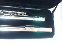 качественные флейты оптовых-2018 Top Высокое качество флейты YFL-371H серебряная флейта C мелодия музыкальные инструменты E key флейта музыка бесплатная доставка
