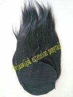 envolva as extensões de cabelo da cauda de pony venda por atacado-Aplique de cabelo humano natural 140g ondulado em linha reta rabo de cavalo hairpiece envoltório em torno do cabelo humano cordão rabo de cavalo extensão do cabelo