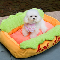 Wholesale pet sleeping bags - Kojima Hot Dog Bed Pet Sofa Funny Cushion Supplies Soft Cat House Sleeping Bag Cozy Puppy Nest Kennel for Small Medium Pet