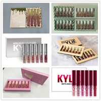 Wholesale Nude Matte Lipstick - Kylie Jenner Gold Limited Edition i want it all Birthday send me more nudes Matte velvet Lipstick holiday valentine sugar spice lip Kit