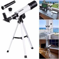 Wholesale Astronomy Telescopes - 360 50mm 90X Astronomical Refractor Telescope With Portable Tripod Spotting Finder Scope Outdoor Monocular - For Beginner Sky Gazers