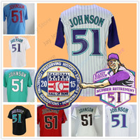 Wholesale Baseball Montreal - Randy Johnson Jersey 2001 WS Retirement 2015 Hall Of Fame Patch Men Women Youth Cooperstown Flexbase Cool Base Arizona Montreal Seattle Jers