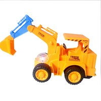Wholesale Toy Electric Train Cars - 1 set Electric Excavator Children's Car toy Yellow Electric Construction Machines Toy Christmas Halloween Kids Toys Gift