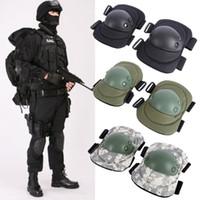 equipo de combate táctico militar al por mayor-4 Unids Adultos Tactical Combat Protector Pad Set Gear Deportes Rodilla Codo Protector de Codo Rodilleras